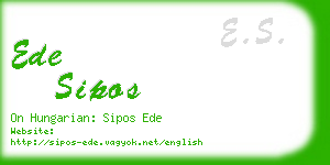ede sipos business card